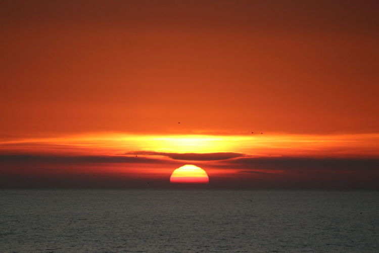 Astrology Sign Astronomy Sunset Sea Beauty Red Awe Sun Silhouette Dramatic Sky