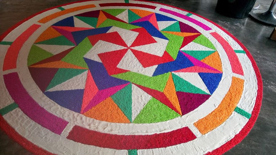 Colour Of Life Colored Rice And Sand Art Creativity Colorful Artist