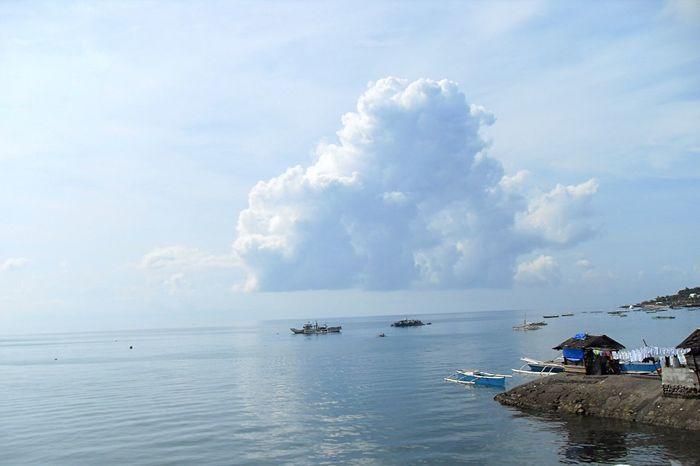 Morning Sky Morning Calm Low Tide Calm Water Horizons Boat On Water Living By The Sea Life By The Sea Ocean View Ocean Of Clouds Early Morning Calm Clouds On The Horizon Eyeem Philippines