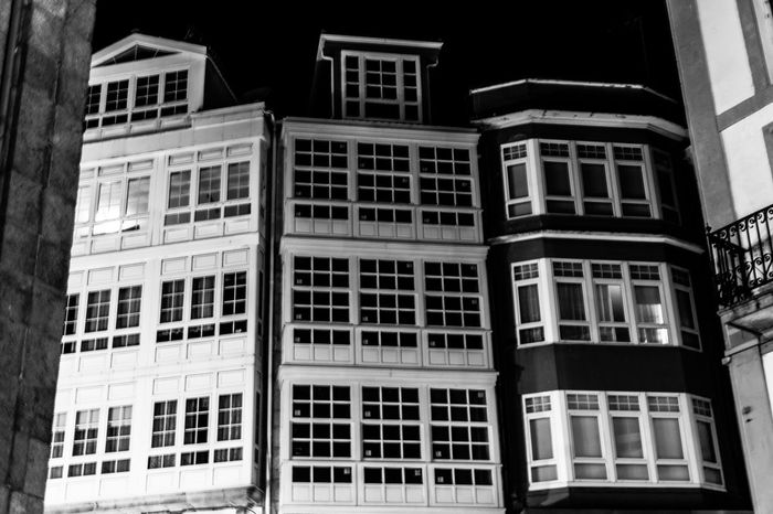 Streetphoto_bw Black And White A Coruña Galleries Night Photography Architecture_bw Monochrome Urbanphotography Nightwalk Architecture La Coruña