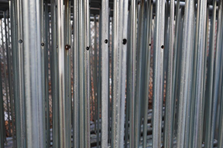 Barricades. Barricade Barrier Barriers Many Metal Parallel Parallel Lines Silver Pipes