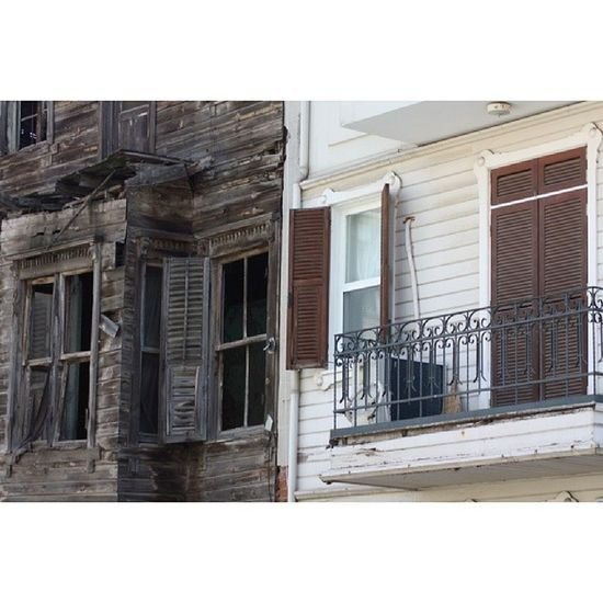 Canoneos450D Untreated I şlemsiz Ironic  irronical wrecks ruin opposite wooden_houses historical_building life