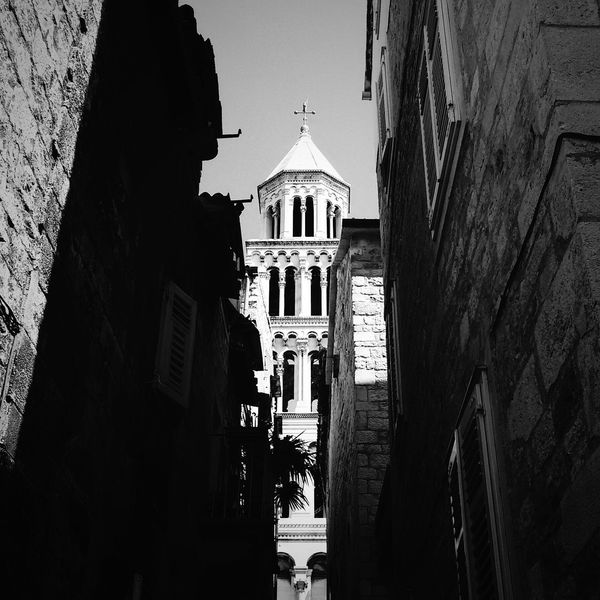 A V O R Y Architecture Religion Sky Urban Spalato Split Croatia Blackandwhite Spot Travel Cruise Summer Tower Old Town Built Structure