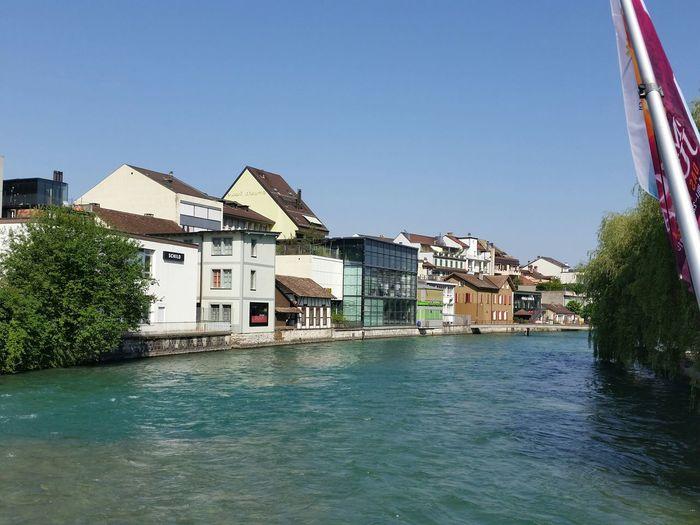 Water Aare Thun Town Summer ☀