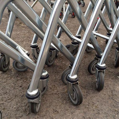 Shopping trolleys Shopping Trolleys Trolley Wheels Wheel Shiny Metal Legs