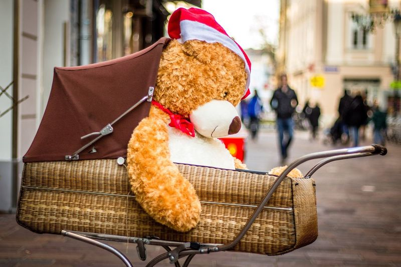 Christmas Teddy Bear Stuffed Toy Toy Outdoors Christmastime Christmas Holidays Winter Santa Scenics
