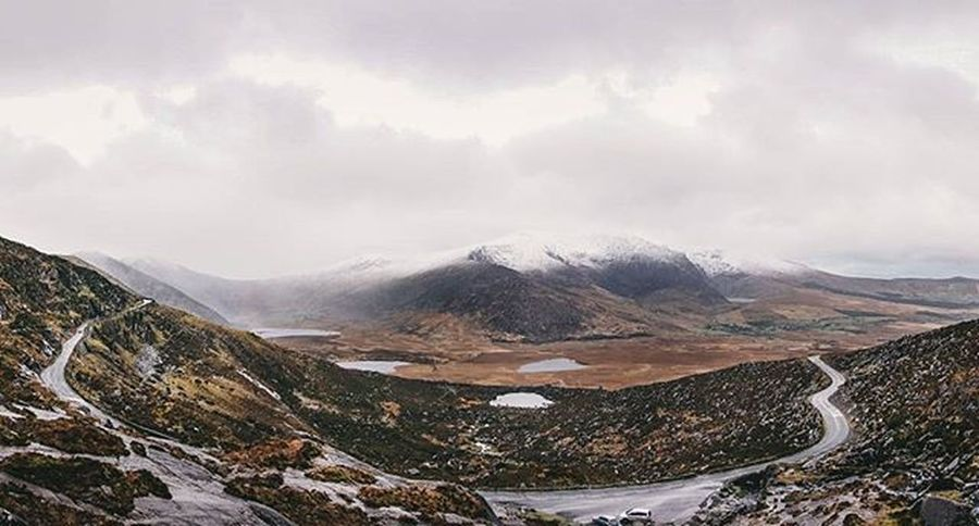 Wet, windy and cold up on the Connor Pass today. Still love that place. Insta_ireland Sony Sonyalpha Sonya6000 Loves_ireland Loveireland Panorama Dingle Kerry Ireland Sonyimages Wildatlanticway Inspireireland_ Wildireland Landscape Mountains Snow Lakes  Winter VSCO GetThatOnJoe Gooutside Adventure Theouterlimits