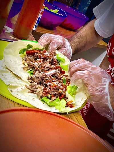 Preparing Shawarma Pita Bread Pita Arabian Food Street Food Worldwide Street Food Shawarmafan Shawarma Food And Drink Food Indulgence Freshness Ready-to-eat Serving Size Temptation Plate Indoors  Meal Gourmet Appetizer Sweet Food Table Selective Focus Healthy Lifestyle Food Styling Close-up
