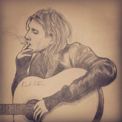 Kurt Donald Cobain by Sharp Pencil HB 0.5mm. Art Illustration Rock Nirvana Kurtcobain Pencilillustration