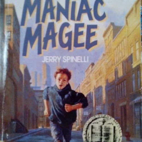 Outdoors City One Person Day Childhood Child One Boy Only Maniac Magee Book Cover School Homework