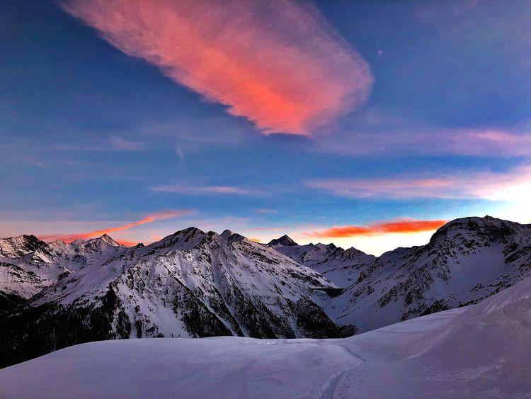 Sunset Swiss Alps Valais Valdanniviers Grimentz Zinal Mountain Snow Beauty In Nature Tranquil Scene Winter Go Higher The Great Outdoors - 2018 EyeEm Awards