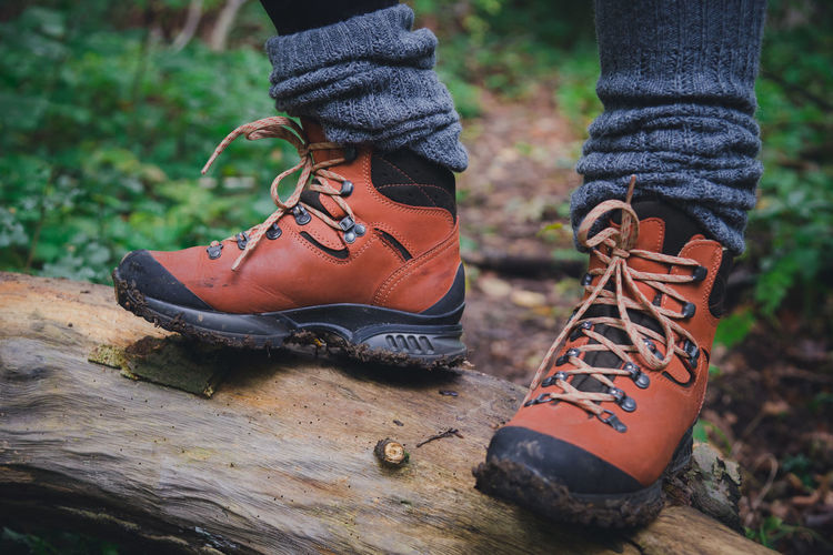 Boots Hiking Nature Ankle Socks Close-up Day Forest Hiker Hiking Boots Human Leg Lifestyles Low Section One Person Outdoors Pair Real People Shoe Shoelace Standing