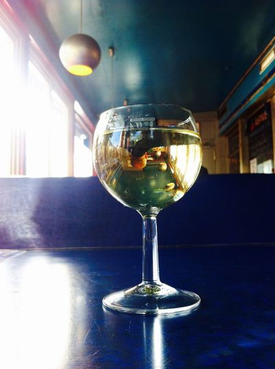 Blue Changing Perspective Close-up Drink Eye4photography  Hanging Out Sitting In A Bar Still Life Taking A Break Taking Photos Throughmyeyes Weekend Wineglass