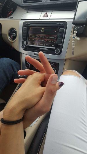 love Human Hand Nail Polish Women Close-up Car Interior Manicure Vehicle Interior Fingernail Passenger Seat Car Point Of View Painting Fingernails