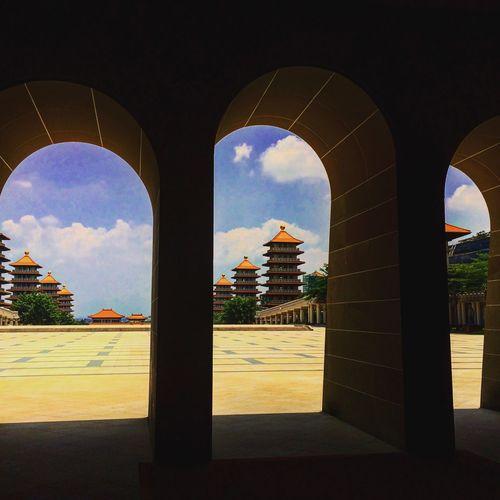 Sky Architecture Arch Outdoors Buddha Temple - Building Kaosiung Taiwan Prayer 佛光山 仏陀 ブッダ
