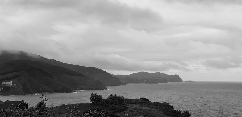 Basque Country Blackandwhite Water Sky Sea Mountain Cloud - Sky Scenics - Nature Beauty In Nature Water Sky Sea Mountain Cloud - Sky Scenics - Nature Beauty In Nature