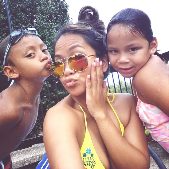 Swimming is fun! Love spending time with my babies!!!:)