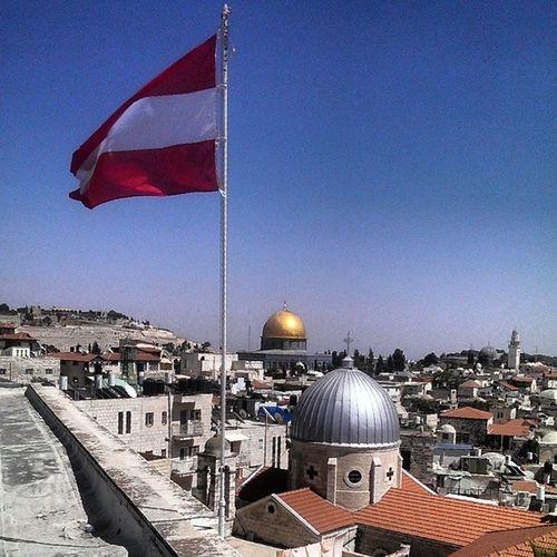 Blu panorama from Jerusalem city Israel