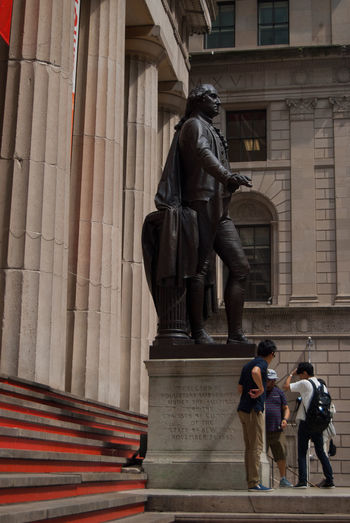 Architectural Column Architecture Art And Craft Building City City Life Economy Famous Place George Washington Historic History NYSE Sculpture Statue USA USAphoto