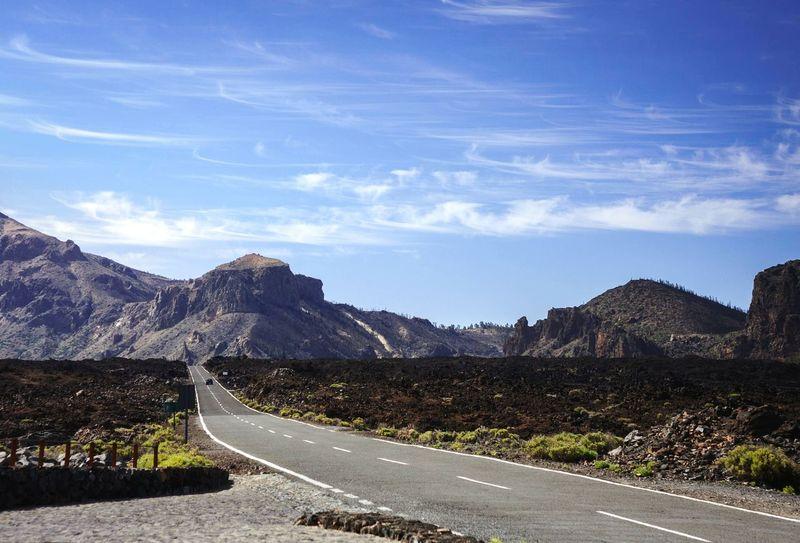 Canarias Canary Islands Islas Canarias Tenerife Road Mountains Horizon Sky Traveling EyeEm Best Shots