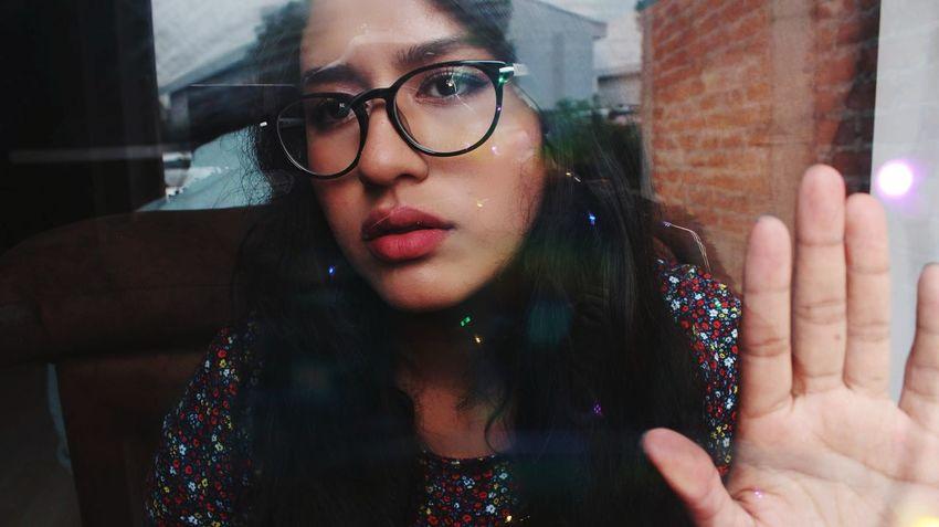 Human Hand Young Women Eyeglasses  Women Window Portrait Close-up Posing Red Lipstick See Through Red Nail Polish Translucent Nail Polish Human Feet Toenail Human Lips Eye Make-up Eye Make-up Lipstick Lipstick Lip Gloss Nose Ring Natural Beauty Thoughtful Pink Hair Pink Lipstick  Wearing Pretty Thinking