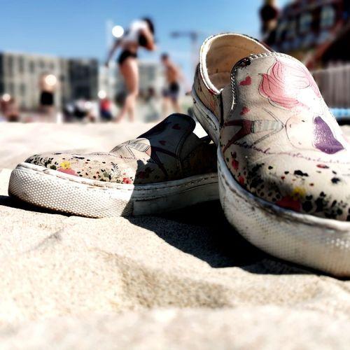 When the sun shows up Sun Sunny Girly France Sunday Sport Sand Beach Shoe Sunlight Close-up Pair