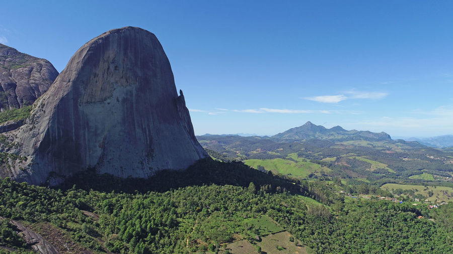 Beautiful scene captured in Pedra Azul, Espírito Santo, Brasil. Pedra do Lagarto Sky Beauty In Nature Mountain Scenics - Nature Tranquil Scene Tranquility Non-urban Scene Environment Idyllic Nature Plant Landscape Day No People Land Rock Mountain Range Outdoors Mountain Peak Formation