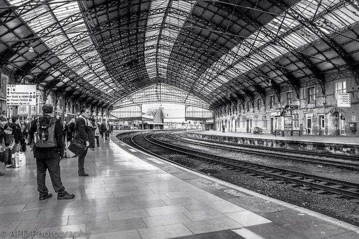 Bristol Templmeads Railway Station, this roof is going to go soon as part of a revamp of the station, sad really as its part of our heritage. Blackandwhite