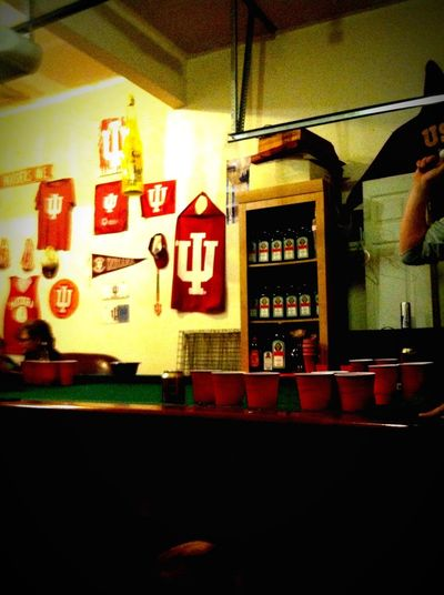Small town Life Beer Pong Miller Highlife Hanging Out Enjoying Life