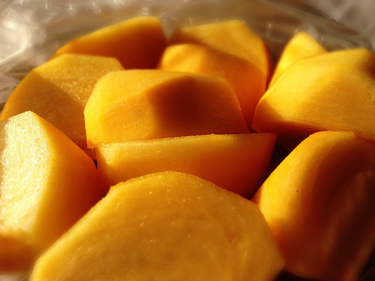 food, food and drink, fruit, healthy eating, freshness, yellow, no people, slice, mango, indoors, close-up, sweet food, ready-to-eat, day