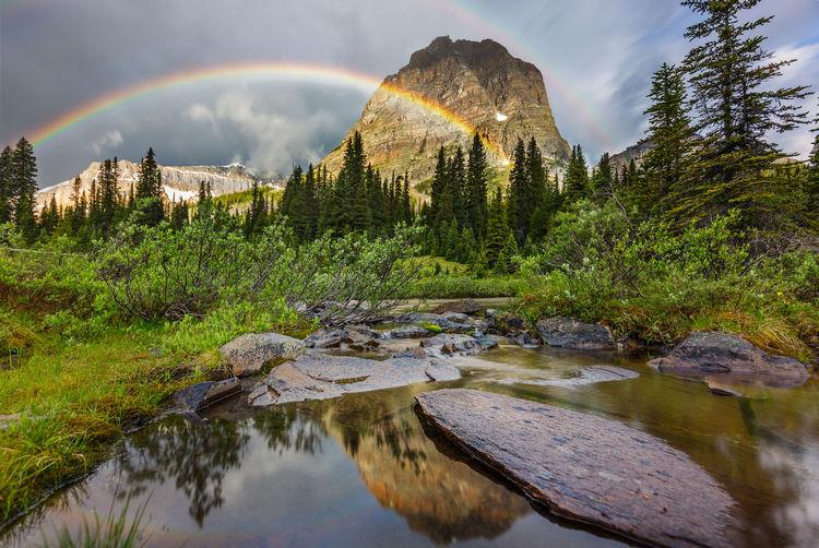 Scenic view of rainbow