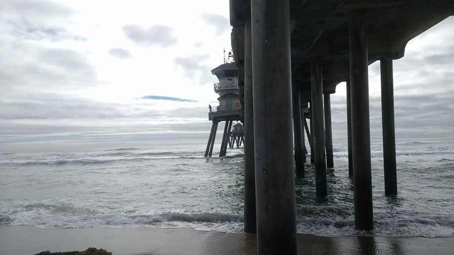 Beach Flat Earth Flat Earth Revolution Horizon Over Water Huntington Beach Huntington Beach CA Huntington Beach Pier Pier Sea Sky Water