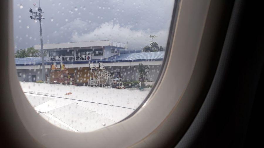 airport Window Airplane Window Airplane Airport Tacloban Airport View From Airplane Window Raindrops Wet Window