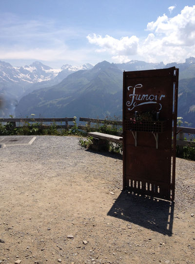 Fumoir - Smokehouse No Smoking In The Restaurant Photography July 2015 Please Smoke Outside Schynige Platte Berner Oberland Beauty In Nature Day Landscape Mountain Nature No People Outdoors Scenery Sky Perspectives On Nature