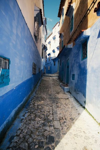 Morning Light Morocco MoroccoTrip Shadows & Lights Sunlight TOWNSCAPE Travel Photography Architecture Authenticity Blue Blue City Building Direction No People Outdoors Shadow Street Sunlight The Way Forward Travel Destinations Travelphotography