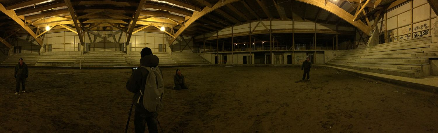 Abandoned Arena with power
