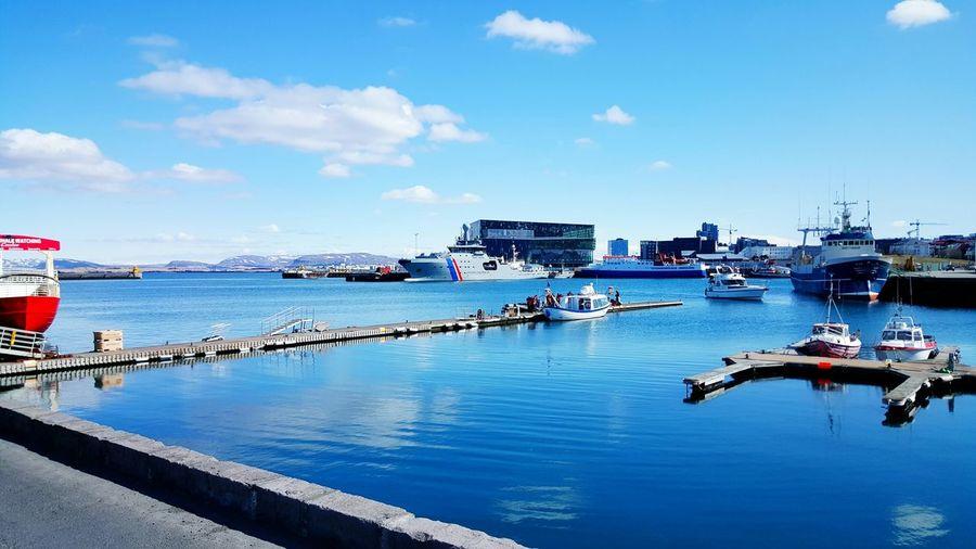 Harbor Against Sky