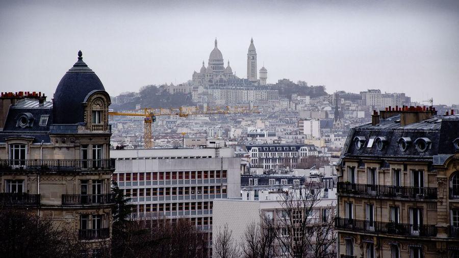 Basilique Du Sacre Coeur And Cityscape Against Sky