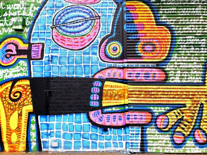 one of the newest NYC New York New York City Bushwick Thebushwickcollective Multi Colored Backgrounds Full Frame Abstract Close-up Colorful Graffiti Street Art Art Painted Spray Paint Pattern ArtWork Mural