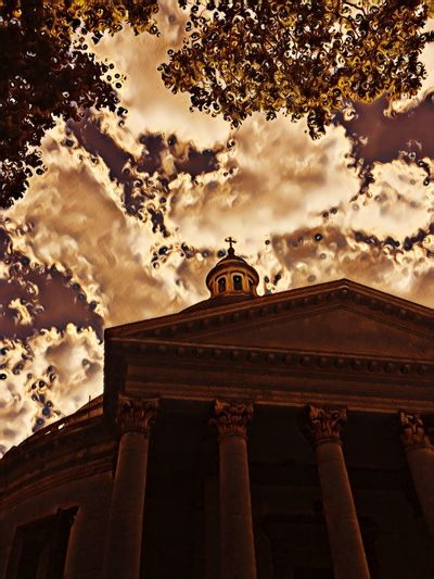 InmaculadaConcepcion Iglesia Low Angle View Built Structure Cloud - Sky Architecture Building Exterior Sky No People Architectural Column History Day Tree Outdoors Nature