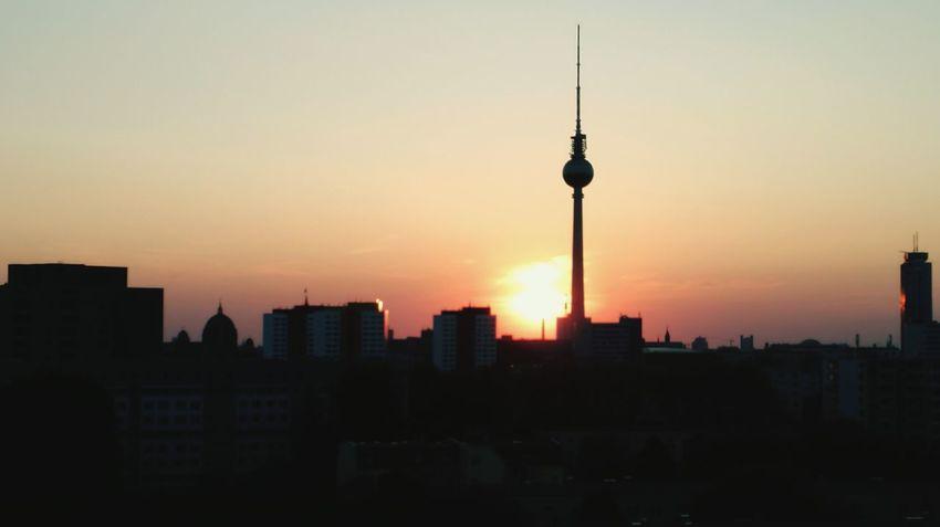 Tower City Sunset Cityscape Architecture Travel Destinations City Life Urban Skyline Sky Capture Berlin Fernsehturmberlin Berlin Sunlight