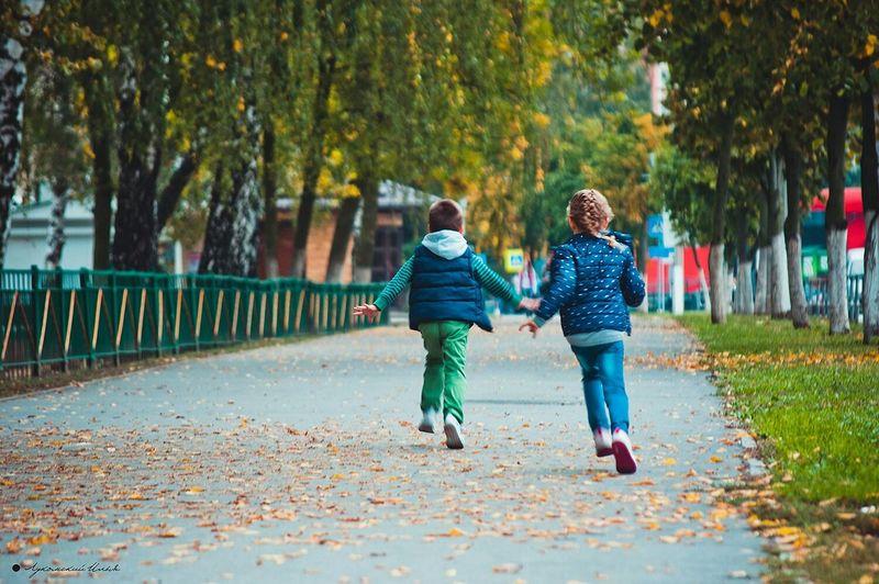 Children Autumn Leaves Fun Autumn Colors Autumn