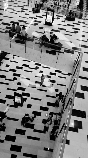 Shopping Mall Weekend Blackandwhite