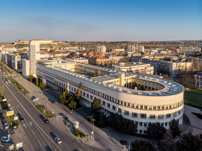 Building Exterior Built Structure Architecture City High Angle View Sky Car Nature Motor Vehicle Transportation Mode Of Transportation Day Road Cityscape Land Vehicle Travel Destinations Travel Plant Tree No People Outdoors Vojvodina Apvojvodina Pokrajina Serbia Europe