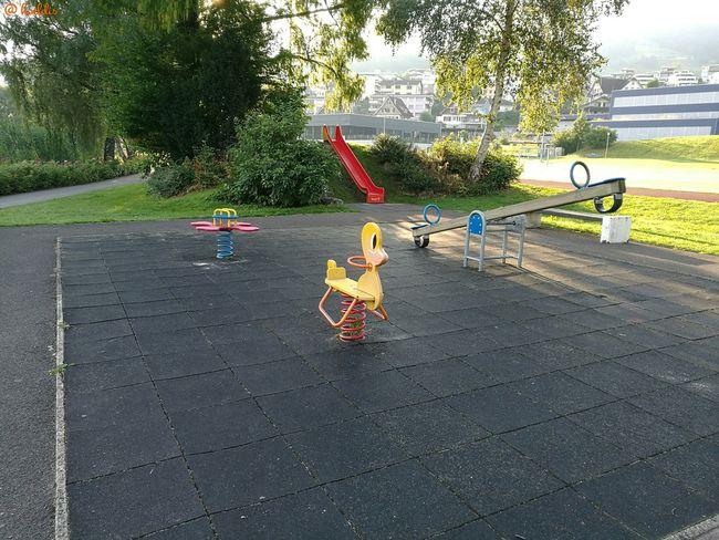 Schaukeln Duck Kinderspielplatz Ruhe Vor Dem Sturm Vierwaldstättersee Küssnacht Am Rigi