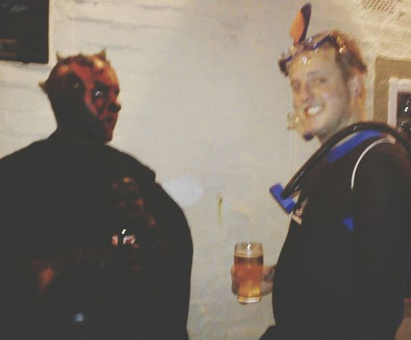 Having a pint with DarthMaul Starwars