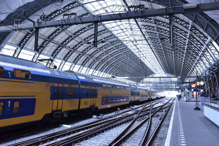 Architecture Built Structure Comuting Day Indoors  Public Transportation Rail Transportation Railroad Station Railroad Station Platform Railroad Track Real People Train - Vehicle Transportation Waiting EyeEmNewHere Your Ticket To Europe