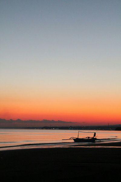 Boat Sunset Sunrise Orange Sun_collection Boat Sunrise_sunsets_aroundworld Fisherman Beach Photography Bali, Indonesia Lovina Beach Sunset_collection Beach Coast