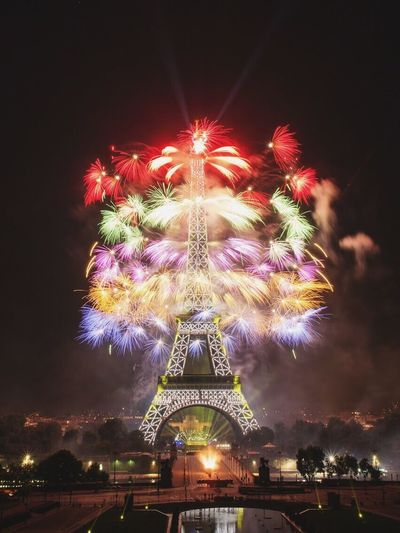 Illuminated Arts Culture And Entertainment Celebration Low Angle View Night Firework Display Multi Colored City Outdoors Sky
