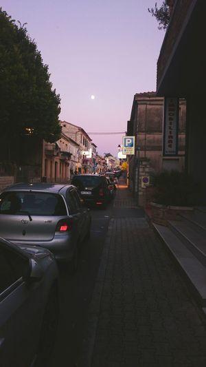 Sirolo Estate2015 Strada Tramonto;sole;cielo